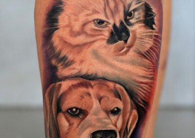 dog tattoo,cat tattoo,tatuaj caine,tatuaj pisica