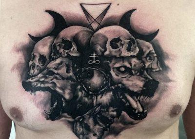 wolf tattoo,tatuaj lup