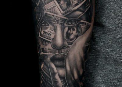 dollar-face-tattoo,tatuaj-dollari