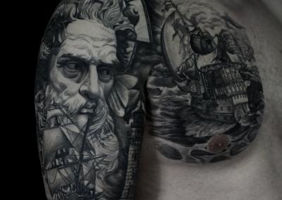 tatuaj-poseidon,poseidon-tattoo,tatuaje-constanta-stefan,tatuaj-navigator