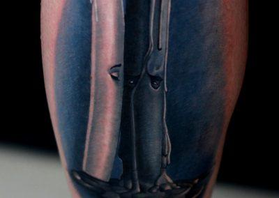 Candle tattoo design